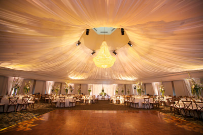 Gorgeous tent-like wedding space
